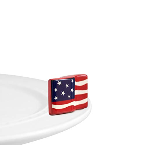 (Nora Fleming Hand-Painted Mini: American Flag A18)