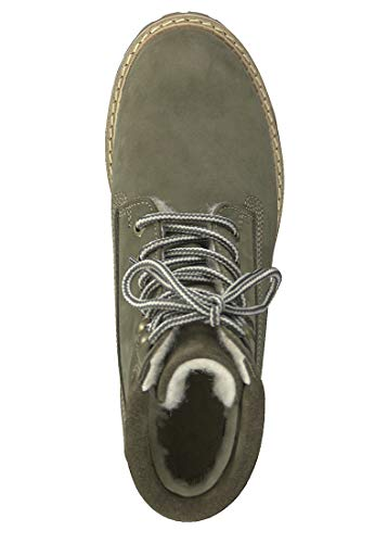 up With 1 Lace Tamaris Boots 26244 Lining 722 21 Warm Women Olive Znfqw6C