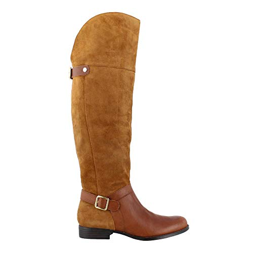Naturalizer Women's January Wc Riding Boot, Camel, 9 M US