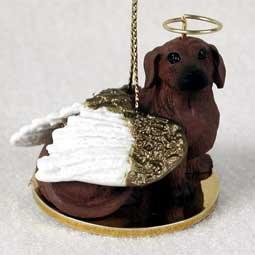Dachshund Angel Dog Ornament - Red
