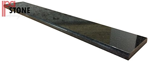 Absolute Black Color - Absolute Black Italian Granite Threshold - Size 36 x 4 Inch - Polished