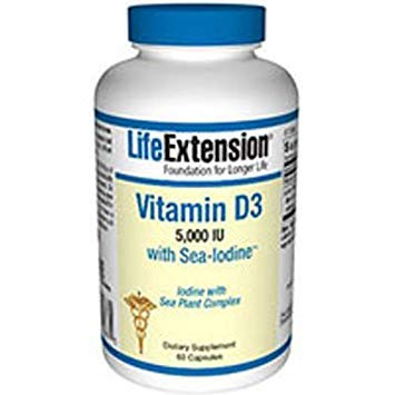 Vitamin D3 with Sea-Iodine 5,000 IU, 60 Capsules-Pack-2