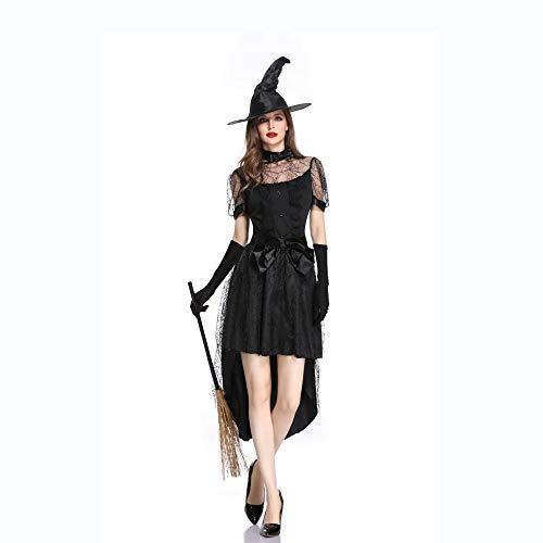 Ambiguity Halloween Costumes Women Halloween Costumes Women Halloween Costume Adult Cosplay Witch Set Demon Villain Witch Costume]()
