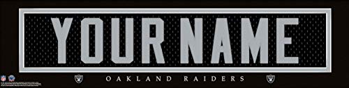Oakland Raiders NFL Jersey Nameplate Wall Print, Personalized Gift, Boy's Room Decor 6x22 Unframed Poster