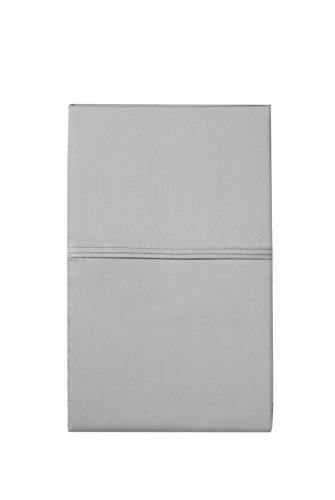 Elizabeth Arden Light-Weight 100% Long-Staple Cotton Percale Set of 2 Pillowcases - Ultra-Fine Natural Pure 300 Thread Count – Crisp & Cool - Standard/Queen Pillowcase Set of 2 - Grey by Elizabeth Arden THE SPA COLLECTION (Image #1)