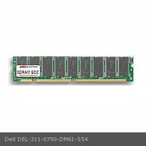 Dell 311-0790 equivalent 256MB DMS Certified Memory PC100 32X72-8 ECC 168 Pin SDRAM DIMM 18 Chip (16X8) - DMS 256mb Pc100 Ecc Dimm Memory