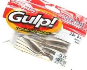 """Berkley 1133135 Gulp Smelt Minnow 2.5/"""" Soft Bait Fishing Lure 18 Piece"""