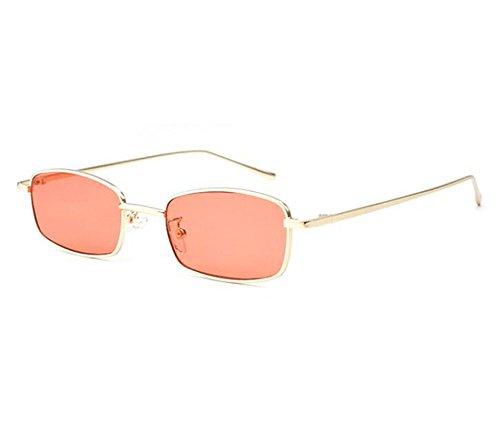 Style gafas mujeres Dorado Hippie Rojo de marco Classic metal Square Vintage para no de sol polarizadas qOEIOw1nx6