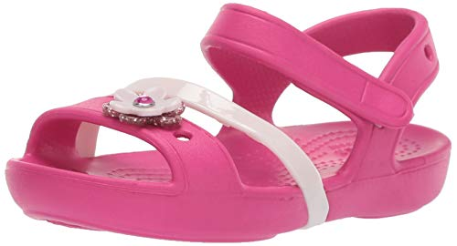 Crocs Lina Charm Sandal Flat, Candy Pink, 12 M US Little Kid