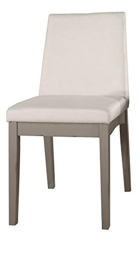 Hillsdale Furniture Clarion Parson, Set of 2 Upholstered Dining Chairs Distressed Gray