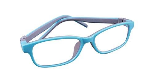De Ding Kinder Silikon Optische Kurzsichtige Brillen Rahmen Mehrfarbig LightBlueGray