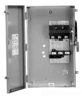 GE THN3361 3 Wire 3 Pole Non-Fusible Heavy-Duty Safety Switch 600 Volt AC 30 Amp NEMA 1 Spec-Setter™