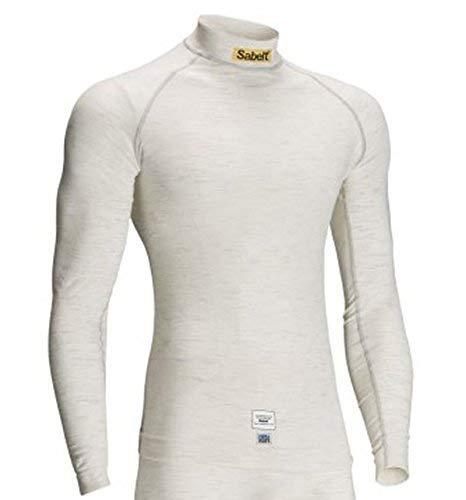 Sabelt UI-500 StretchFit Nomex Underwear Top (Longsleeve) - FIA Approved - White - Size M-L