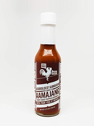- Adoboloco Hamajang Smoked Ghost Pepper Hot Sauce - 5oz Bottle - Warning to the inexperienced this sauce is very hot! Use with caution! Keep out of the the reach of children!