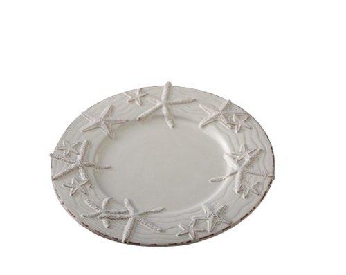 Christmas Tablescape Decor - Milk Glazed Starfish Dinner Plate by Mud Pie