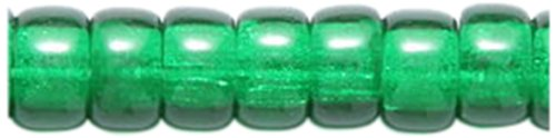 Preciosa Ornela Traditional Czech Glass Crow Roller 200-Piece Beads, 6mm, Dark Christmas Green (Crow Roller)
