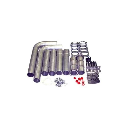 JEGS 30562 Dual Exhaust Kit without Mufflers