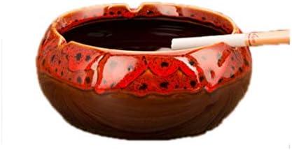 灰皿 , レトロホーム灰皿ヨーロッパのクリエイティブセラミック灰皿多機能装飾 (色 : A, サイズ : 13.5*6cm)