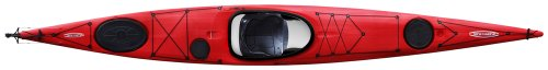 Tahe Marine Reval HV Composite HD Rudder/Skeg Sit-In Sea/Touring Kayak, Red/Black/White