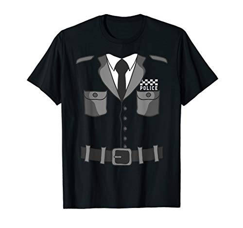 British Police Bobby Copper T-Shirt Halloween Costume]()