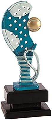 Trofeo Padel Pack de 2 Resina y Base de Madera 25,27,29 cm Grabado ...