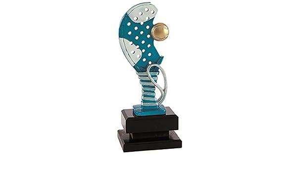 Trofeo Padel Pack de 2 Resina y Base de Madera 25,27,29 cm Grabado Trofeos Personalizados Pala de Padel (25cm): Amazon.es: Deportes y aire libre