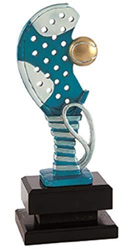 Trofeo Padel Pack de 2 Resina y Base de Madera 25,27,29 cm Grabado Trofeos Personalizados Padel Pala: Amazon.es: Deportes y aire libre
