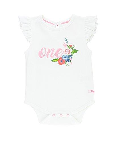 RuffleButts Infant/Toddler Girls 1st Birthday Girl Bodysuit w/Flowers - White - 18-24m ()