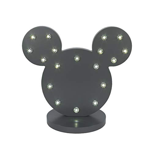 Disney Mickey Mouse Standing Marquee Lighted Room Decor, Dark Grey/Charcoal