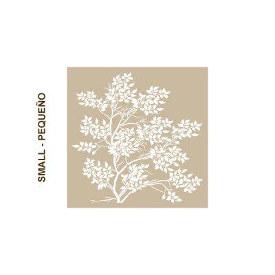 Misure Design: 48 x 48 Stencil Muro Albero 004 Albero Misure: Dimensioni esterne dello stencil: 50 x 50 cm cm