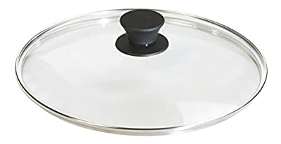 Lodge Dishwasher Safe Tempered Glass Lid for Seasoned Cast Iron Skillets and Grill Pans