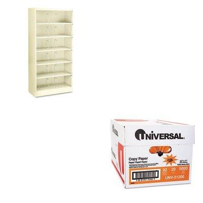 KITHON626CNLUNV21200 - Value Kit - The HON Company HON Brigade Shelf File | 6-Shelves, Putty (HON626CNL) and Universal Copy Paper (UNV21200)