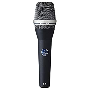 AKG Pro Audio D7 Reference Dynamic Vocal Microphone with Varimotion Diagphragm for Clean and Crisp Sound with…