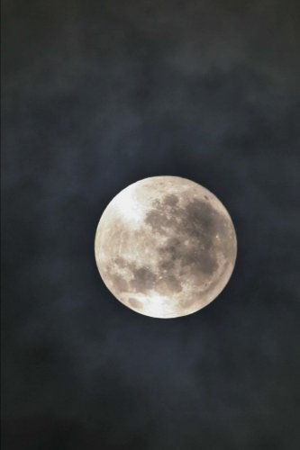 Full Moon in the Night Sky Journal: 150 Page Lined Notebook/Diary ()