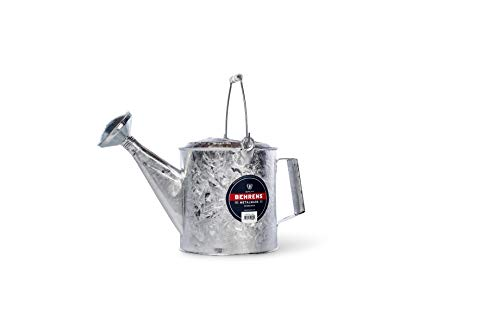 Behrens Manufacturing 206 Hot Dipped Steel Watering Can, 1.5 gal, 1.5 Gallon, Silver