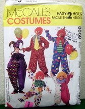 McCall's 376 8869 Clown Costumes in five styles makes Adult size Medium (Clown Costume Patterns)