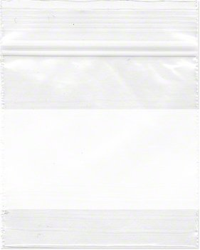 Plymor 2″ x 2″, 2 Mil (Case of 1000) Zipper Reclosable Plastic Bags w/White Block