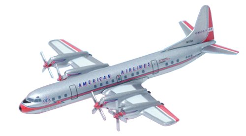Electra American Airlines - Dragon Models American Airlines L-188A Electra Diecast Aircraft with Collector Tin, Scale 1:400