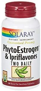 Solaray PhytoEstrogen Ipriflavones Two Daily, Capsule Btl-Plastic 60ct