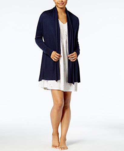Lauren Ralph Lauren Full Fashion Knit Open Cardigan, Navy, - Lauren Ralph Sweaters Cardigans Women