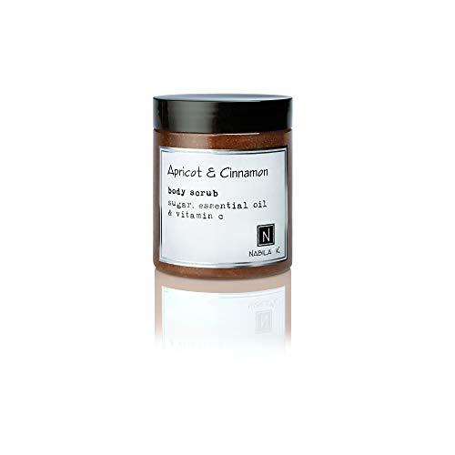 Apricot Cinnamon Body Scrub, Exfoliates Moisturizes, 10oz