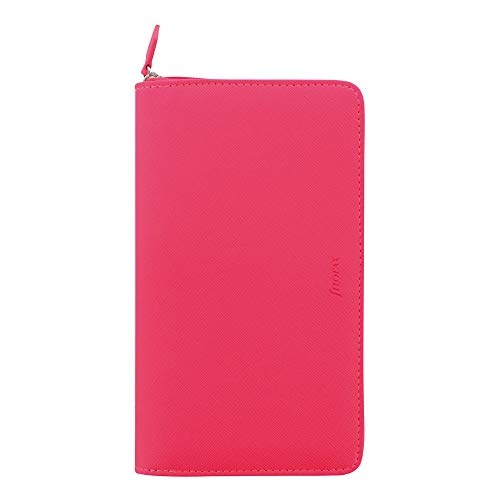 Filofax Pen Pink (Filofax 2019 Personal Compact Zip Organizer, Saffiano Fluoro Pink, 6.75 x 3.75 inches (C028751-19))