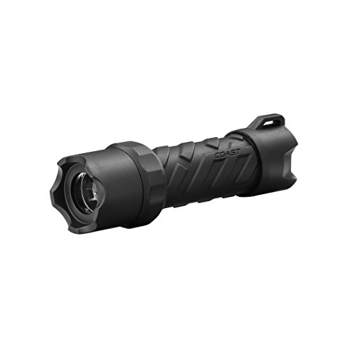 COAST Polysteel 200 320 Lumen Waterproof Pure Beam Focusing LED Flashlight with Twist Focus and Stainless Steel Core