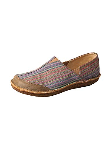 Twisted X Women's ECO WA Toe Driving Mocs Casual Shoes - Multi Canvas/Bomber