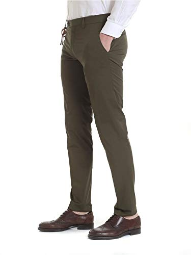 Berwich Homme Coton Pantalon Slimcn1204xarmy Vert cq167xnq