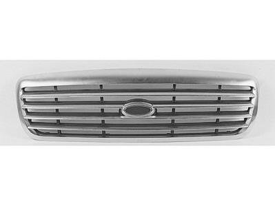 GRILLE Ford Crown Victoria CHROME/BLACK. (WITHOUT MFR MANUFACTURER EMBLEMS / LOGOS. THEY ARE TRADEMARK PROTECTED.) (Black Ford Emblem 03 Crown Vic compare prices)