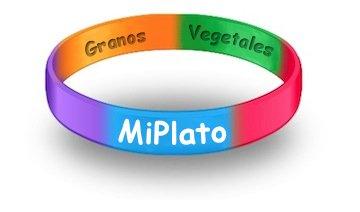 MyPlate Wristbands Spanish MiPlato Child - Pack of 20 - Health Fair Prize ()