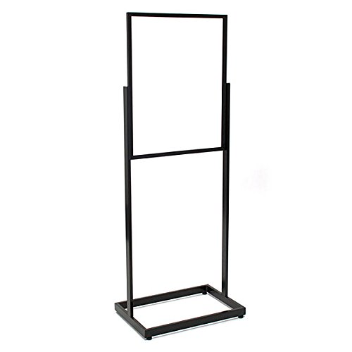 KC Store Fixtures 10604 Floor Standing Sign Holder, Rectangular Tube, 22