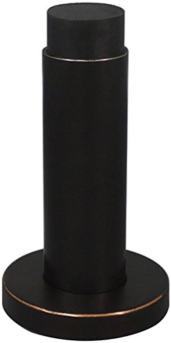 INOX DSIX04-10B Cylindrical Wall Mount Door Stop on Rose, Oil Rubbed Bronze ()