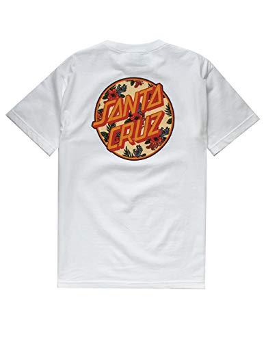 Santa Cruz Vacation Dot T-Shirt, White, X-Large